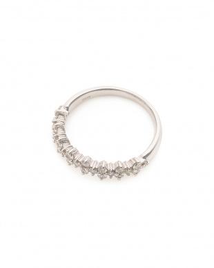ホワイトゴールド K18WG ダイヤモンド(0.5ct) リングを見る