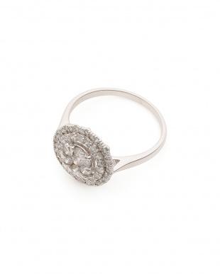 ホワイトゴールド K18WG ダイヤモンド(0.6ct) リングを見る
