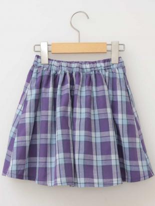 ホワイト [100-130]チェックギャザースカート[WEB限定サイズ] a.v.v bout de chouを見る