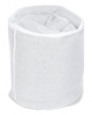 ホワイト ラグを洗うのに便利 ランドリーネット×2 円柱型 40R×50cmを見る