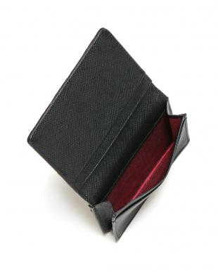 ブラック クロコダイルレザー 型押しレザー カードケースを見る