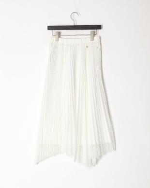 white メッシュプリーツスカートを見る
