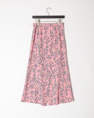 pink チューリッププリントスカートを見る