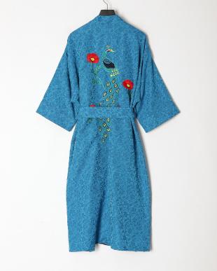turquoise 鳳凰刺繍チャイナガウンを見る