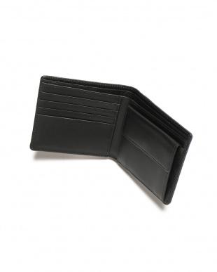 ブルー/ブラック シャークレザー 日本鞣し染色 二つ折り財布を見る
