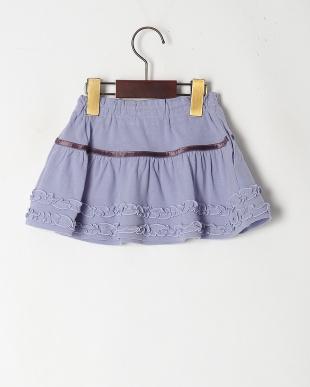 ブルー フリル付スカートを見る