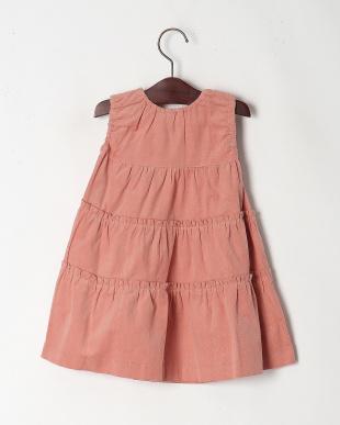 ピンク コーデュロイジャンパースカートを見る