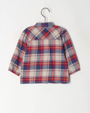 レッド チェック柄ネルシャツを見る
