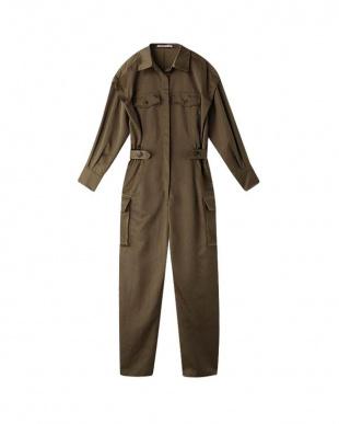KHAKI ショルダータックジャンプスーツを見る