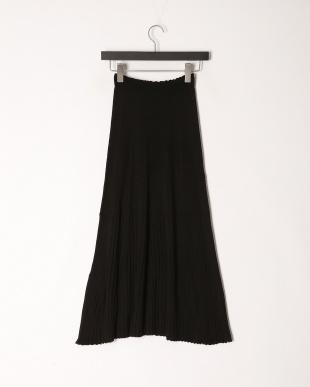 ブラック 日本製ホールガーメント透かし柄ロングSKを見る