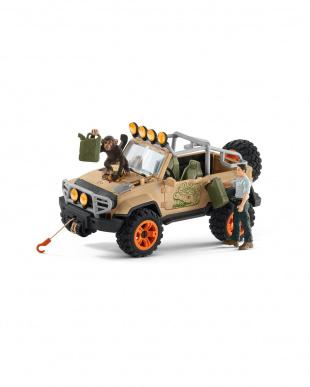 ジャングル調査隊 四輪駆動車を見る