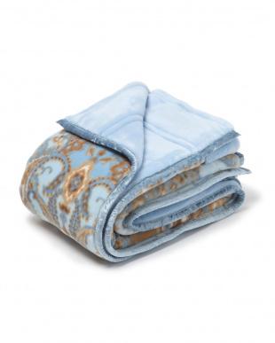 ブルー 西川 洗える2枚合わせ毛布 日本製 洗える シングルを見る