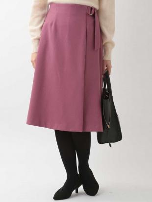 ピンク ラップフレアスカート OFUONを見る