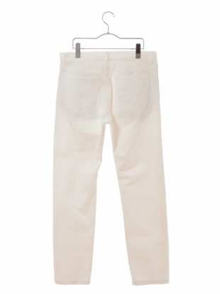 ホワイト サテンストレッチ5ポケットパンツ[WEB限定サイズ] a.v.v HOMMEを見る