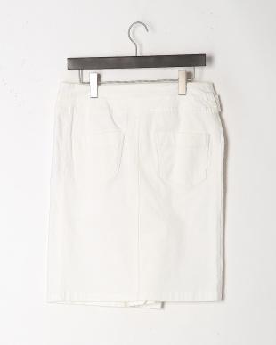 ホワイト 膝丈タイトスカートを見る