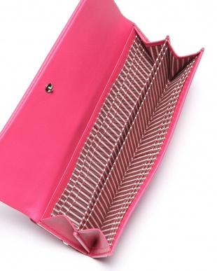 ピンク 牛革 がま口長財布(キャンディーパース)を見る