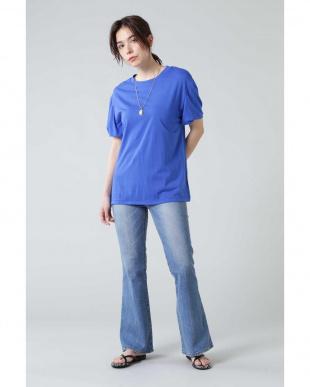 ブルー ツイストスリーブTシャツ R/B(オリジナル)を見る