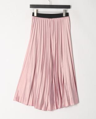 ピンク サテンリバーシブルスカートを見る