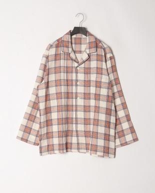 アイボリー [メンズ]3重ガーゼカラードチェックパジャマを見る