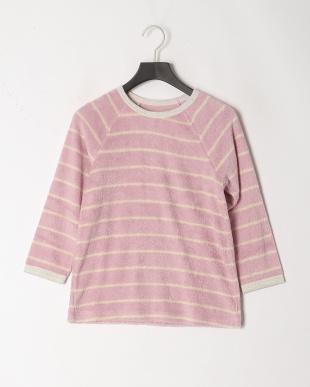 ピンク [キッズ]サンドイッチパイルボーダーパジャマを見る