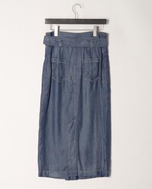 ブルー テンセルデニムタイトスカートを見る