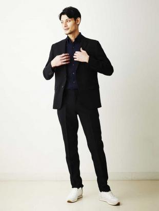 ブラック スーツ(TRABESTシャドーストライプ) MICHEL KLEIN HOMMEを見る
