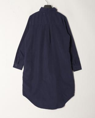 Navy ピーチスキン ロングシャツを見る