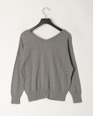 Gray Cotton Cashmere 2Way Knitを見る