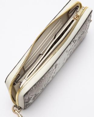 ナチュラル ダイヤモンドパイソンラウンド長財布を見る