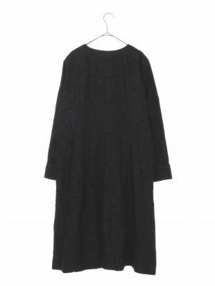 ブラック 【洗える/ライナー付き】幾何柄ジャガードコート HIROKO BIS GRANDEを見る