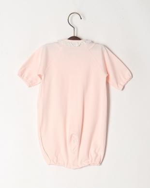 ピンク スムース前立てドレスオールを見る