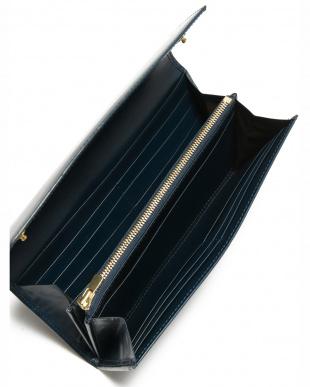 ブルー クリスペルカーフ 長財布を見る