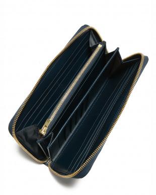 ブルー クリスペルカーフ ラウンド長財布を見る