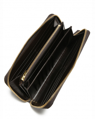 チョコ クリスペルカーフ ラウンド長財布を見る