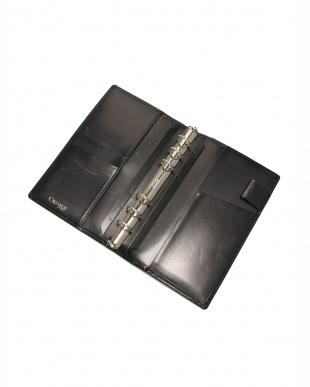 ブラック クリスペルカーフ 手帳カバーを見る