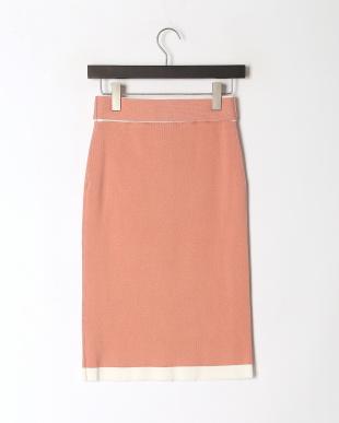 PI フロント釦バイカラータイトスカートを見る