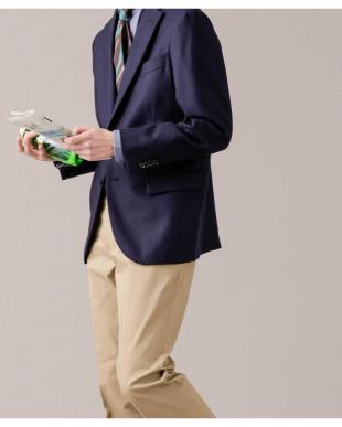ネイビー ナノグラビティ 梳紡毛フラノヘリンボンジャケット RG ナノ・ユニバースメンズ(オリジナル)を見る