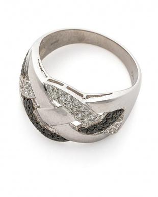 ホワイトゴールド K18WG ブラックダイヤモンド0.21ct ダイヤモンド0.21ct リングを見る