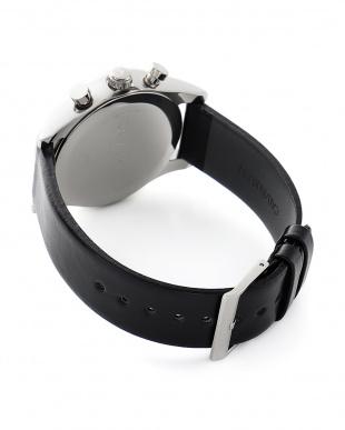 シルバー/ブラック 腕時計 3針 Steadfast(ステッドファスト) クロノグラフ シルバー×シルバーを見る