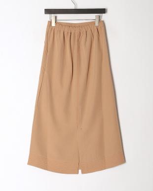 ベージュ カラーステッチ Aライン スカートを見る