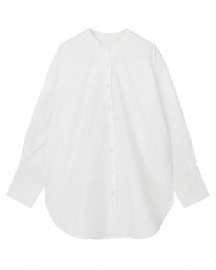 オフホワイト バックタックチュニックシャツを見る