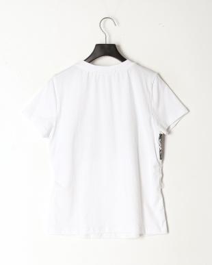 ホワイト 配色レース 半袖Tシャツを見る