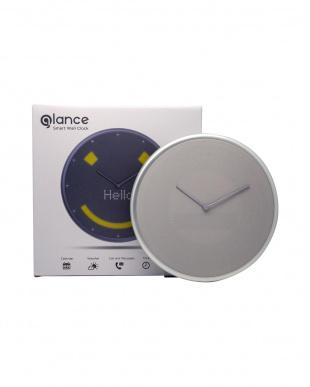 シルバー クラシックな2針のIoT時計 Glance Clockを見る