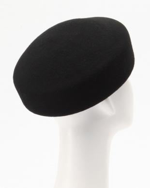 BLACK ESピン付ウールトークハット BLACKを見る