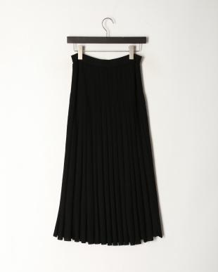 ブラック レーヨンナイロンフレアスカートを見る