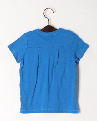ブルー ラッフルフリルTシャツを見る