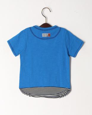 ブルー メッセージTシャツを見る