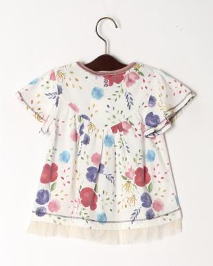 オフ 花柄プリントTシャツを見る