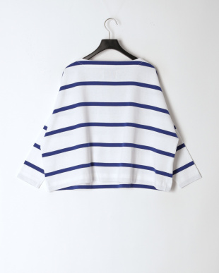 RA01/B.WHITEXBLUE BIG MARINE BOATNECK SHIRT EXを見る
