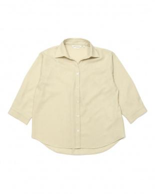アイボリー スキッパー衿 七分袖シャツ&スカートセットアップを見る